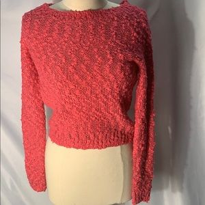 Divided by H&M Pink Sweater with wide neck size 2